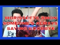 Morissette sings Someone's Always Saying Goodbye on MYX Live REACTION