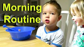 Morning Routine with 4 Little KIDS!