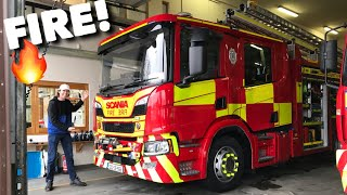 SCANIA P 320 Fire Engine Crew Cab Full Tour & Test Drive + Emergency!
