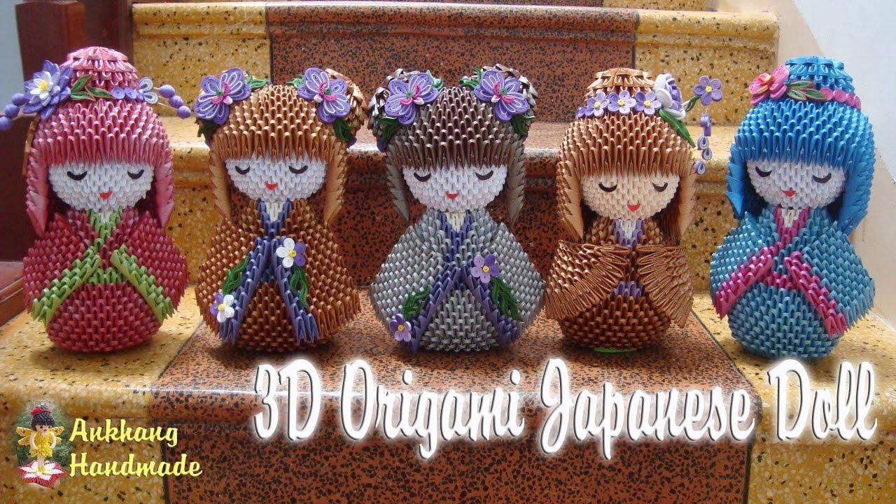 3d origami japanese doll paper doll handmade decoration youtube 3d origami japanese doll paper doll handmade decoration jeuxipadfo Choice Image