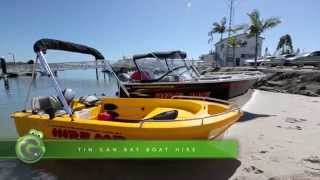 Tin Can Bay Boat Hire at Fraser Coast by Grasshopper Travel