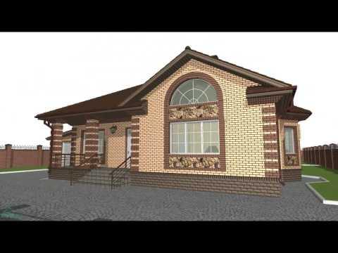 Проект универсального дома с террасой и гаражом  C-021-ТП