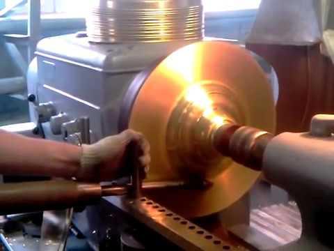 Изготовление основы подсвечника напольного из латуни