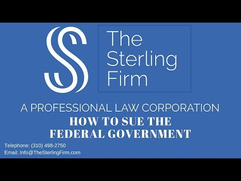 HOW TO SUE THE FEDERAL GOVERNMENT