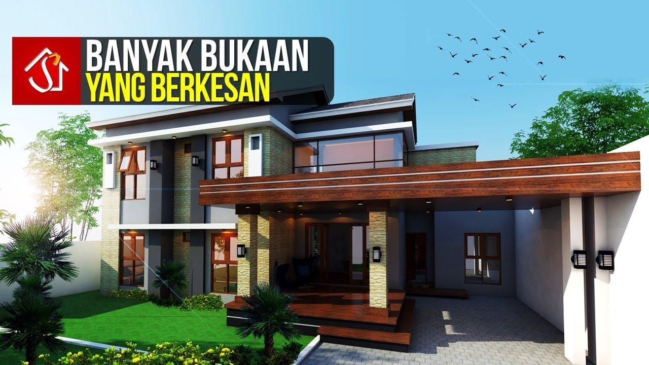 Rumah Minimalis Modern 2 Lantai 5 Kamar Tidur Di Lahan 15x17 - YouTube
