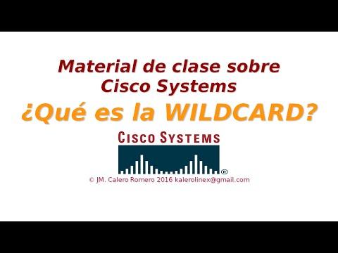 Cisco. ¿Qué es la WILDCARD?