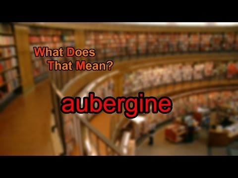 What does aubergine mean?