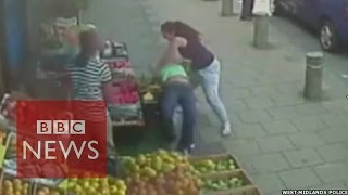 'Road rage' attack CCTV in Birmingham (UK) released - BBC News