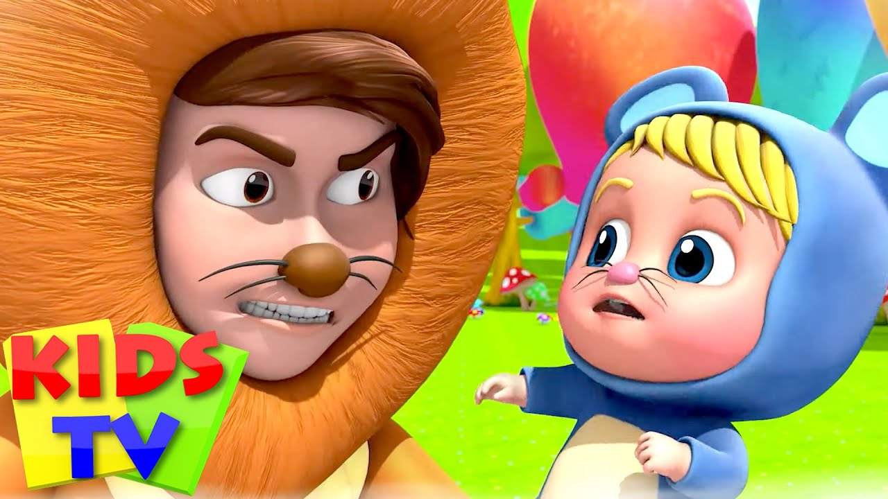 The Lion and The Mouse Story | Kids Stories | Pretend & Play | Nursery Rhymes & Baby Songs | Kids Tv