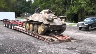 WW2 Tanks Arriving for Battle