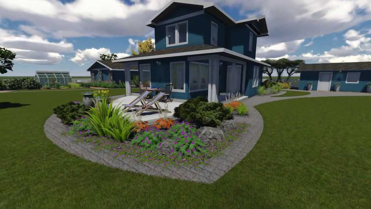 3D Garden Design   YouTube