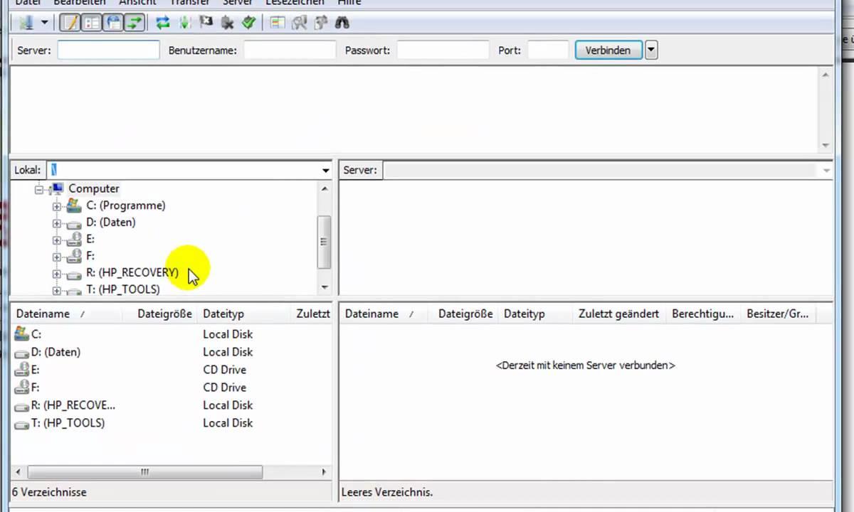 FileZilla Tutorial deutsch