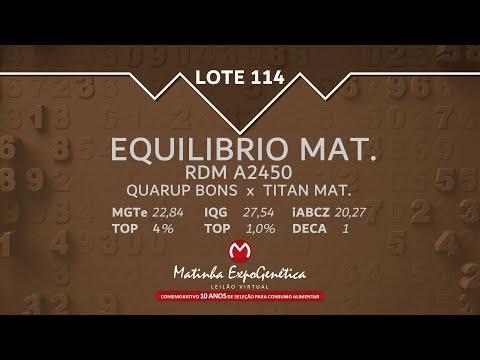 LOTE 114 MATINHA EXPOGENÉTICA 2021