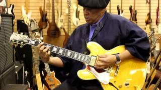 Al McKay from Earth, Wind and Fire at Norman's Rare Guitars