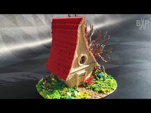 DIY Popsicle Stick Fairy House & Wire Tree Tutorial