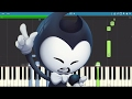 Bendy And The Ink Machine Rap - Can't Be Erased - JT Machinima - Piano Cover / Tutorial