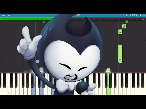Thumbnail: Bendy And The Ink Machine Rap - Can't Be Erased - JT Machinima - Piano Cover / Tutorial