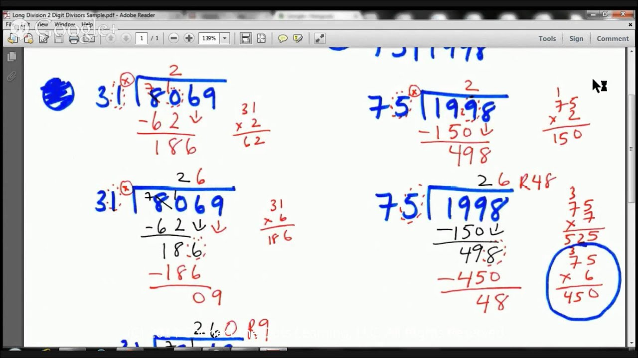 Worksheet Long Division 2 Digit Divisor 5th grade long division with 2 digit divisors lesson fullerton tutors