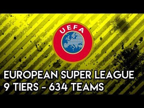 Football Manager 2018 Experiment: European Super League - 9 Tiers - 634 Teams FM18 Experiment