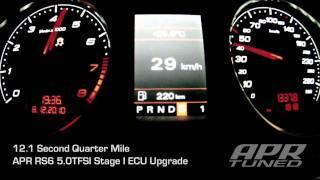 APR Stage I RS6 5.0TFSI Acceleration: 12.1 second Quarter Mile Runs!