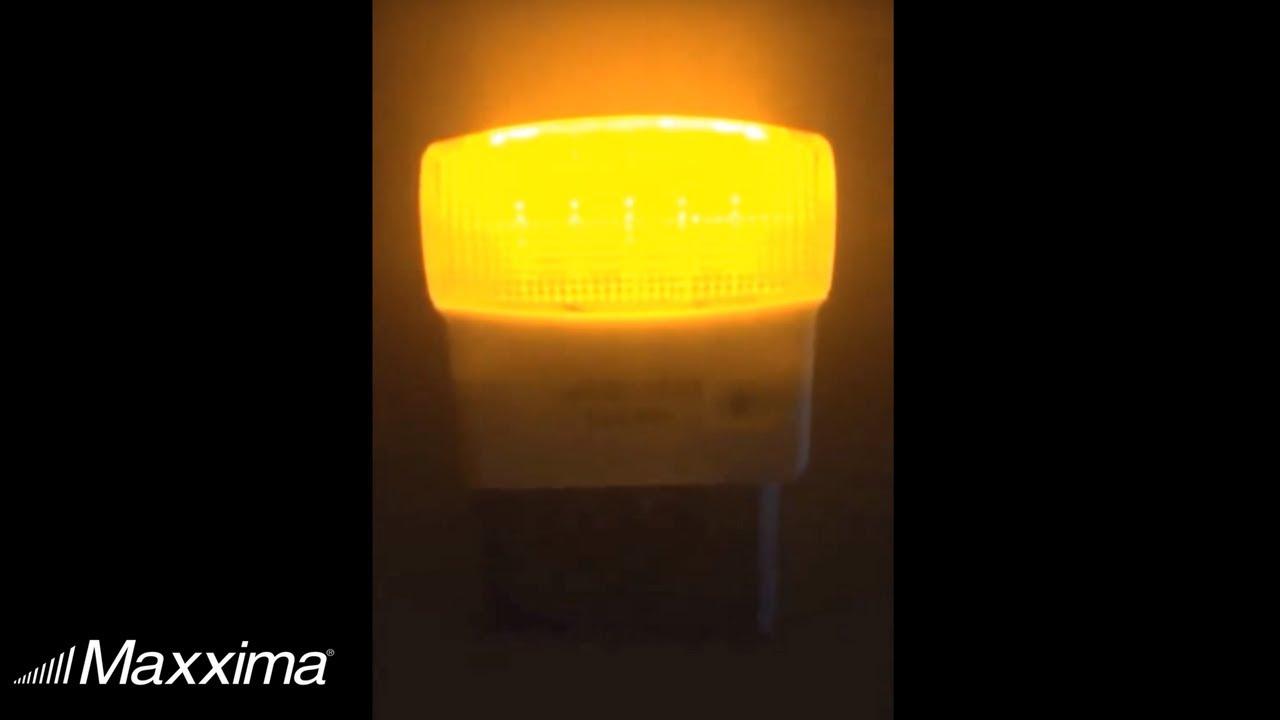 Maima Mln 50a 02 Amber Led Night Light With Sensor