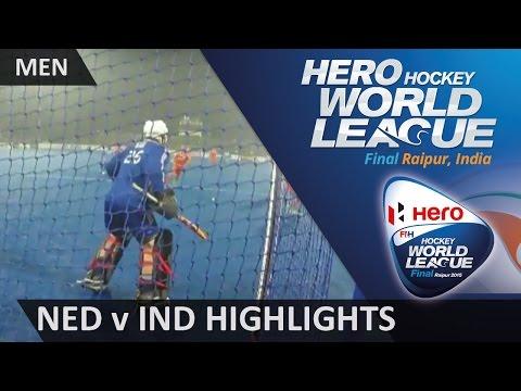 Netherlands v India Bronze Medal Match Highlights #HWL2015 #Raipur