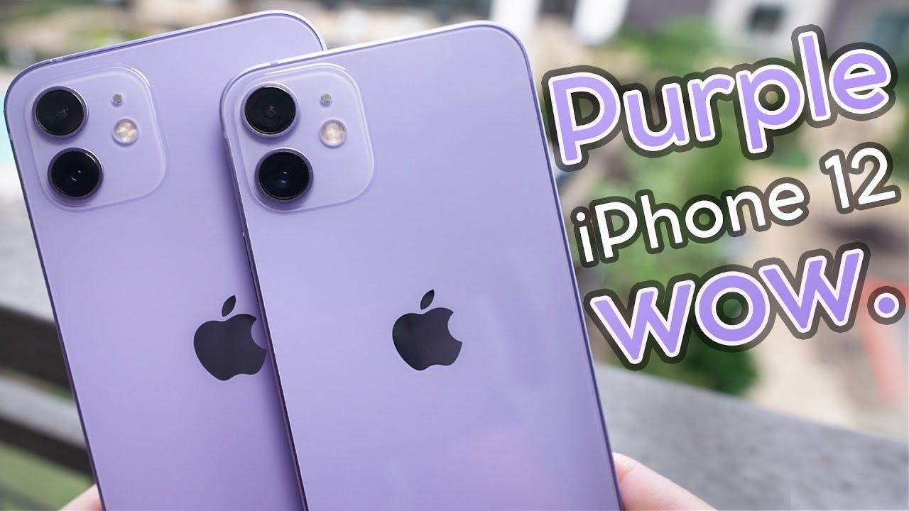 Purple iPhone 12 & 12 Mini Unboxing, Cases, & Size Comparison!