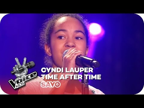 Cyndi Lauper  Time after time Sayo  Blind Auditions 2016  The Voice Kids  SAT1