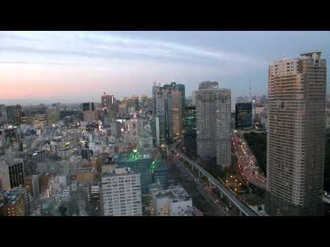 Watch the Tokyo Sunset from World Trade Center Tokyo - December 16, 2017