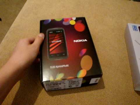 Unboxing Nokia 5530 Xpress Music