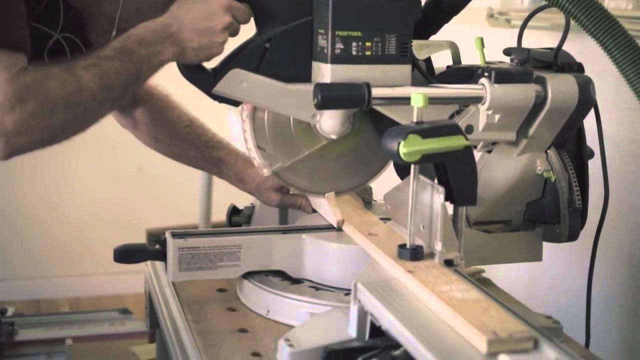 festool kapex ks 120 miter saw with tom gensmer youtube. Black Bedroom Furniture Sets. Home Design Ideas