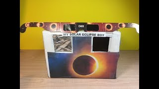 Solar Eclipse box. DIY alternative for Solar Eclipse Glasses by Granny B.