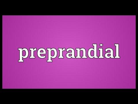 Header of preprandial