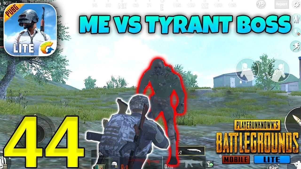 PUBG MOBILE LITE - Me VS Tyrant Boss Fight - New Zombie Update Gameplay