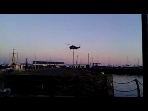 R177 landing at Ardrossan harbour