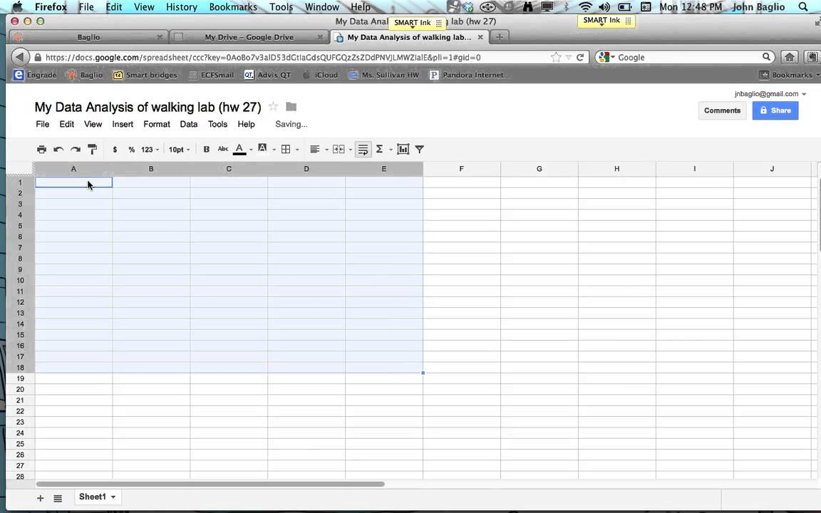 Using A Spreadsheet To Calculate Averages & Median