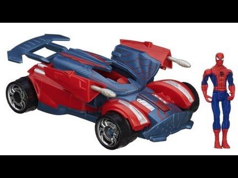 Coche Juguete Marvel Ultimate Spider Man S H I E L D Battle Racer