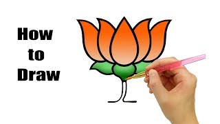 How to Draw BJP logo   BJP Political Party