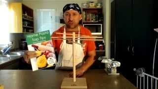 Wooden Pasta Drying Rack Assembly Demonstration  By Home Kitchen Queen