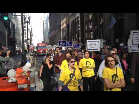 Fair Economy Illinois marches to Chicago Board of Trade - Nov.  2, 2015