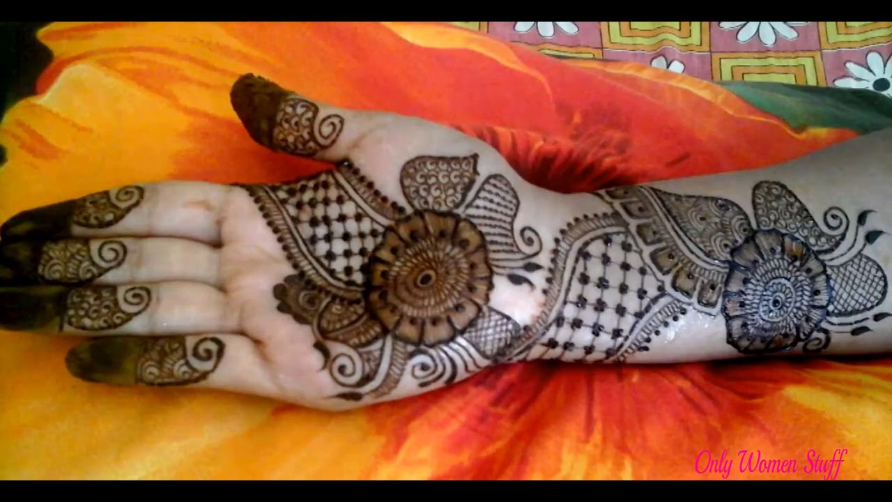 Very Easy Mehndi Design For Hand Step By Step Simple Mehandi
