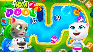 Talking Tom Pool New Levels   Android Gameplay   Droidnation