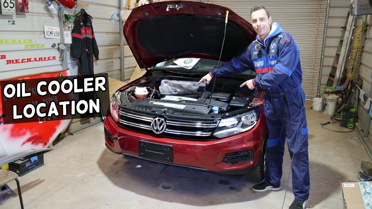Vw Tiguan Oil Cooler Location Where Is The Oil Cooler Common Oil Leak Youtube