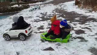 유아전동차 눈썰매