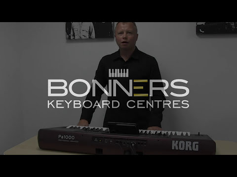 Korg PA1000 Keyboard Overview & Sound Demo - New 2017!!!