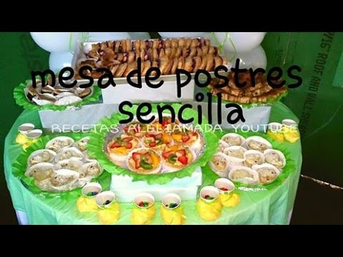 Mesa de postres sencilla ideas para baby shower for Ideas para mesa de postres