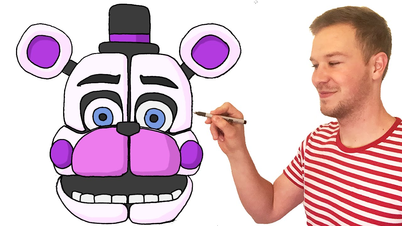 How to draw fnaf freddy steps - How To Draw Funtime Freddy From Fnaf Sister Location