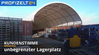 Lagerhalle XXL aus Containern - Erfahrungsbericht | Profizelt24