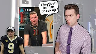 Pump Air Into the Lung?! Doctor Reacts to Pat McAfee Show & Drew Brees Punctured Lung
