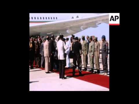 SYND 7 12 77 SHAH OF IRAN VISITS OMAN AND DHOFAR